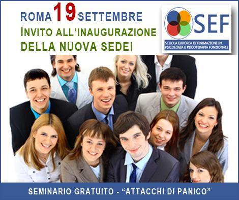 Roma Seminario Gratuito Attacchi di Panico 19 Settembre