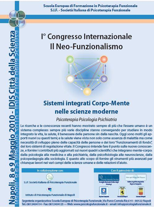 Luciano Rispoli :1° Congresso Internazionale Psicoterapia sul Neo-Funzionalismo.