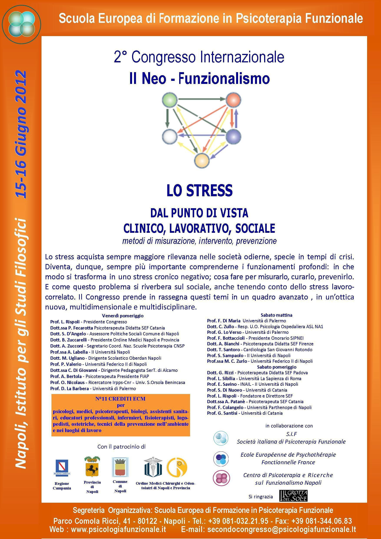 """Luciano Rispoli : 2° Congresso Internazionale Psicoterapia """"lo Stress nel Neo-Funzionalismo"""""""
