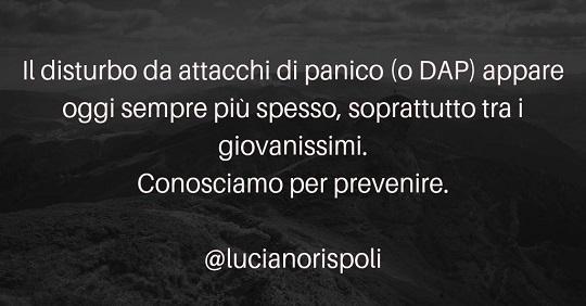 Luciano Rispoli: Disturbi da attacchi di panico