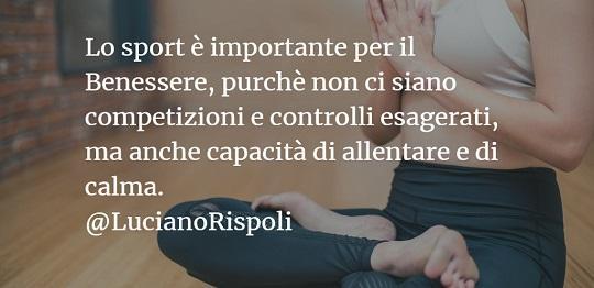 Luciano Rispoli Psicologia: Abuso di controllo e sforzo nello Sport.