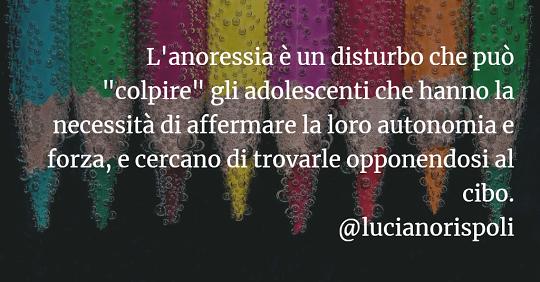 Luciano Rispoli Psicologia: L'Anoressia