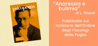 Scuola di psicoterapia: Luciano Rispoli Anoressia e Bulimia ∼ Articolo pubblicato sul notiziario dell'Ordine degli Psicologi della Puglia